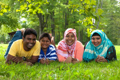 Portrait of a indian family Royalty Free Stock Photo