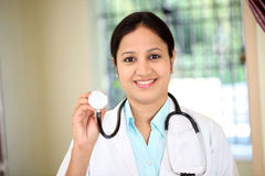 Portrait of Indian female doctor Stock Photos