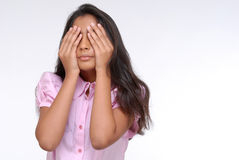Portrait of Indian girl with closed eyes Royalty Free Stock Photos