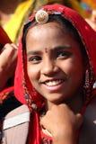 Portrait of Indian girl Pushkar camel fair Stock Image
