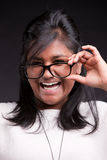 Portrait of an indian girl's laughter Stock Photography