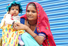 Portrait of an Indian gypsy woman Stock Image