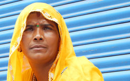 Portrait of an Indian gypsy woman Stock Photos