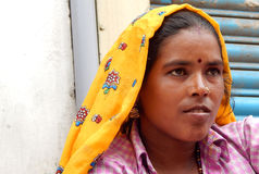 Portrait of an Indian gypsy woman Royalty Free Stock Image