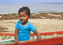 Portrait of an Indian kid Stock Photos