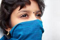 Portrait Of Indian Little Girl Stock Photo