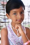 Portrait of Indian Little Girl Stock Images