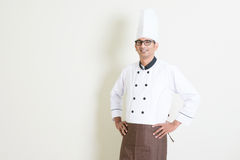 Portrait of Indian male chef in uniform Royalty Free Stock Image