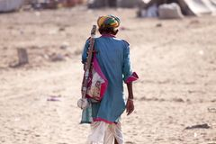 Old Rajasthani man with turban.Festival-Pushkar Royalty Free Stock Photo