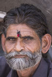 Portrait Indian man. Pushkar, India. Close up Royalty Free Stock Photo