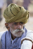 Portrait Indian man in Pushkar. India Stock Images