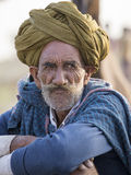 Portrait Indian man. Pushkar, India Royalty Free Stock Images