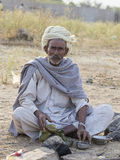 Portrait Indian man. Pushkar, India Royalty Free Stock Photography