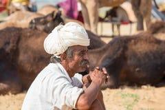 Portrait Indian man, Pushkar. India Royalty Free Stock Photos