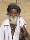 Portrait Indian man in Pushkar. India Stock Photography