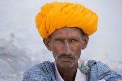 Portrait Indian man in Pushkar. India Royalty Free Stock Photography