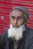 Portrait Indian man. Srinagar, Kashmir, India. Close up Royalty Free Stock Image