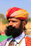 Portrait of indian man taking part in Mr Desert competition, Jaisalmer, India. Portrait of indian man taking part in Mr Desert competition, Jaisalmer, Rajasthan stock image