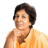 Portrait of Indian mature woman Royalty Free Stock Image