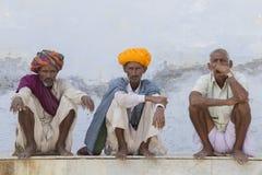 Portrait Indian men in Pushkar. India Stock Image