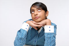 Portrait of Indian pretty girl Stock Images