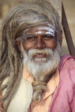 Varanasi, India, Portrait of an Indian Sadhu. Portrait of an Indian Hindu Saddhu at Varanasi, India Stock Photos