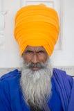 Portrait indian sikh man in turban with bushy beard. Amritsar, India Royalty Free Stock Photography