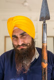 Portrait of Indian sikh man in turban with bushy beard Stock Photo