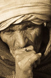 Portrait of an Indian smoker Stock Photo