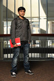 Portrait of Indian Student Indoors Royalty Free Stock Photo