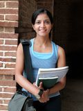 Portrait of an Indian teen student. Stock Photos