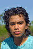 Portrait of Indian teenager jogger Stock Image