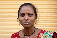 Portrait of the Indian woman Royalty Free Stock Photography