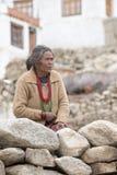 Portrait indian woman. Leh, India Stock Photos