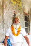 Portrait Indian yogi Baba Ramis commits rites sacred rituals.India,Anor,. Indian yogi Baba Ramis commits rites sacred rituals.India,Anor, November 8, 2016 Royalty Free Stock Photo
