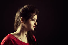 Portrait of indian young female beauty Stock Photos
