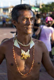 Portrait of indigenous man with necklaces around the neck Stock Photography