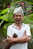 Portrait of Indonesian worker Stock Photo
