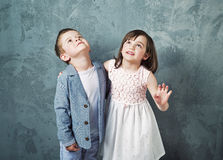 Portrait of innocent chlidren Stock Images