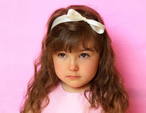 Portrait of innocent cute little princess Royalty Free Stock Photography