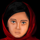 Portrait of a innocent muslim girl Stock Image