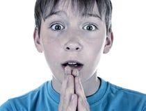 Portrait inquiété d'enfant photographie stock