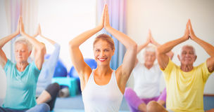 Portrait of instructor performing yoga Royalty Free Stock Image