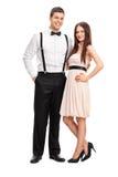 Portrait intégral d'un jeune couple à la mode Images stock