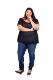 Belle fille de poids excessif Photographie stock