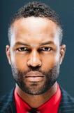 Portrait intense de studio d'Afro-américain image stock