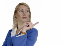 Portrait of a interested attractive business woman Stock Image