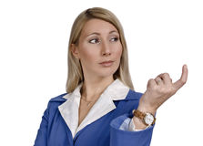 Portrait of a interested attractive business woman Royalty Free Stock Images