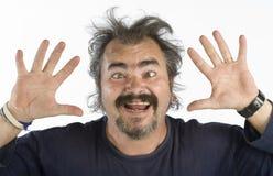 Portrait of an irascible man Stock Photo