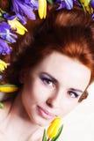 Portrait with iris Stock Photo